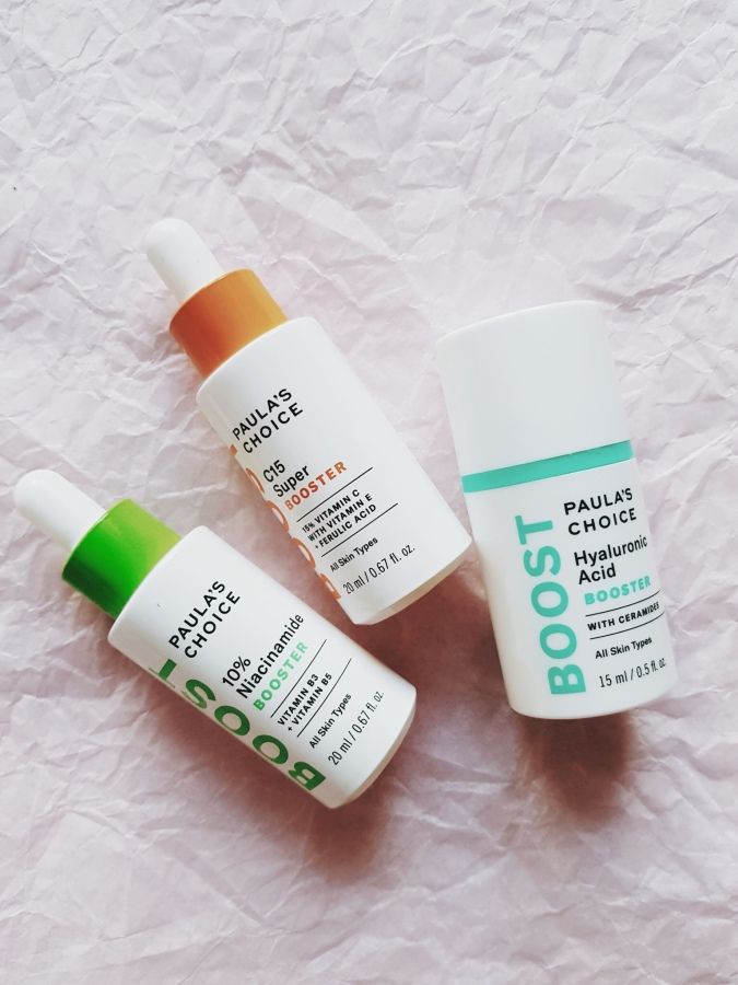 Skincare Review: Paula's Choice C15 Super Booster, 10% Niacinamide Booster, and Hyaluronic Acid Booster
