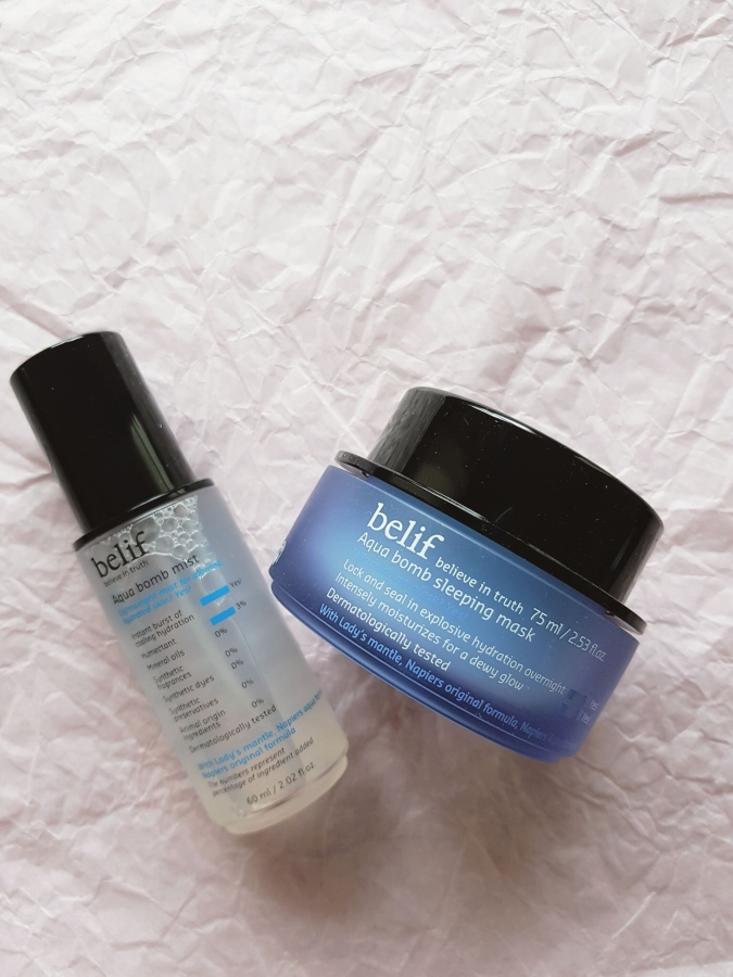Skincare Review: Belif Aqua Bomb Mist and Sleeping Mask