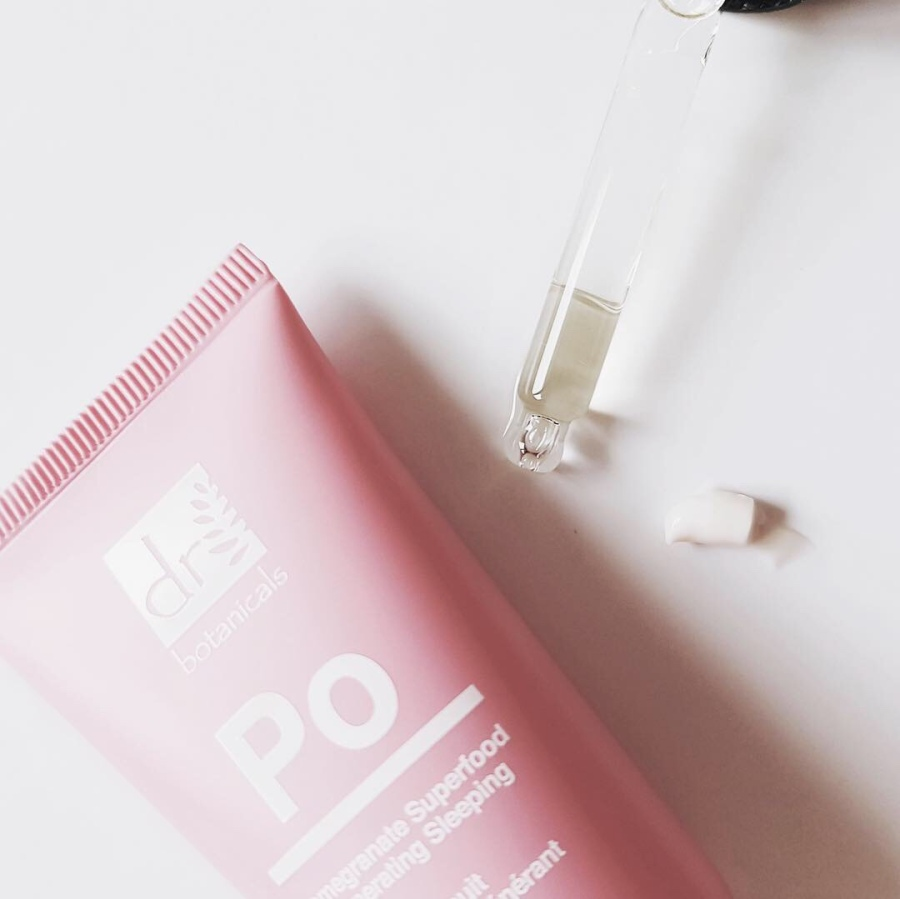Skincare Review: Dr. Botanicals Pomegranate Superfood Brightening Eye Serum and Regenerating Sleeping Mask