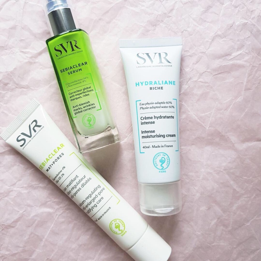 Skincare Review: SVR Sebiaclear Serum, Sebiaclear Mat+Pores, and Hydraliane Riche Intense Moisturizing Cream