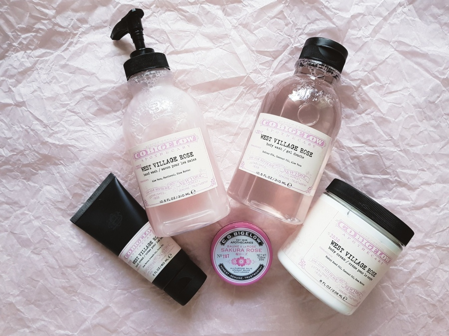 Bodycare Review: C.O. Bigelow Sakura Rose Salve and West Village Rose Body Wash, Hand Wash, Body Butter, and Hand Cream