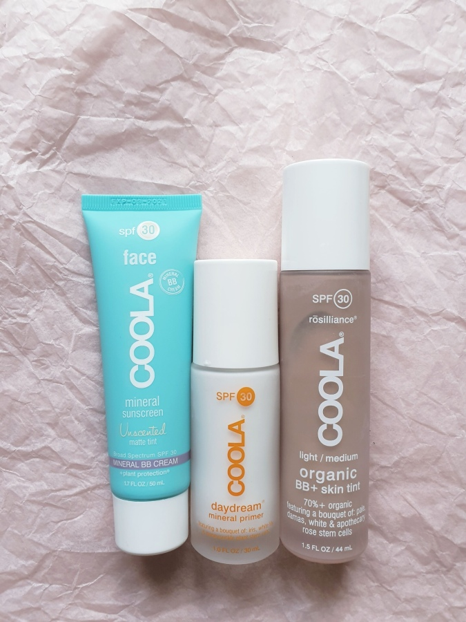 Skincare Review: Coola Mineral Face Matte Tint Moisturizer SPF 30, Rosilliance Mineral BB+ Cream Tinted Organic Sunscreen SPF 30, Daydream Mineral Makeup Primer Sunscreen SPF 30