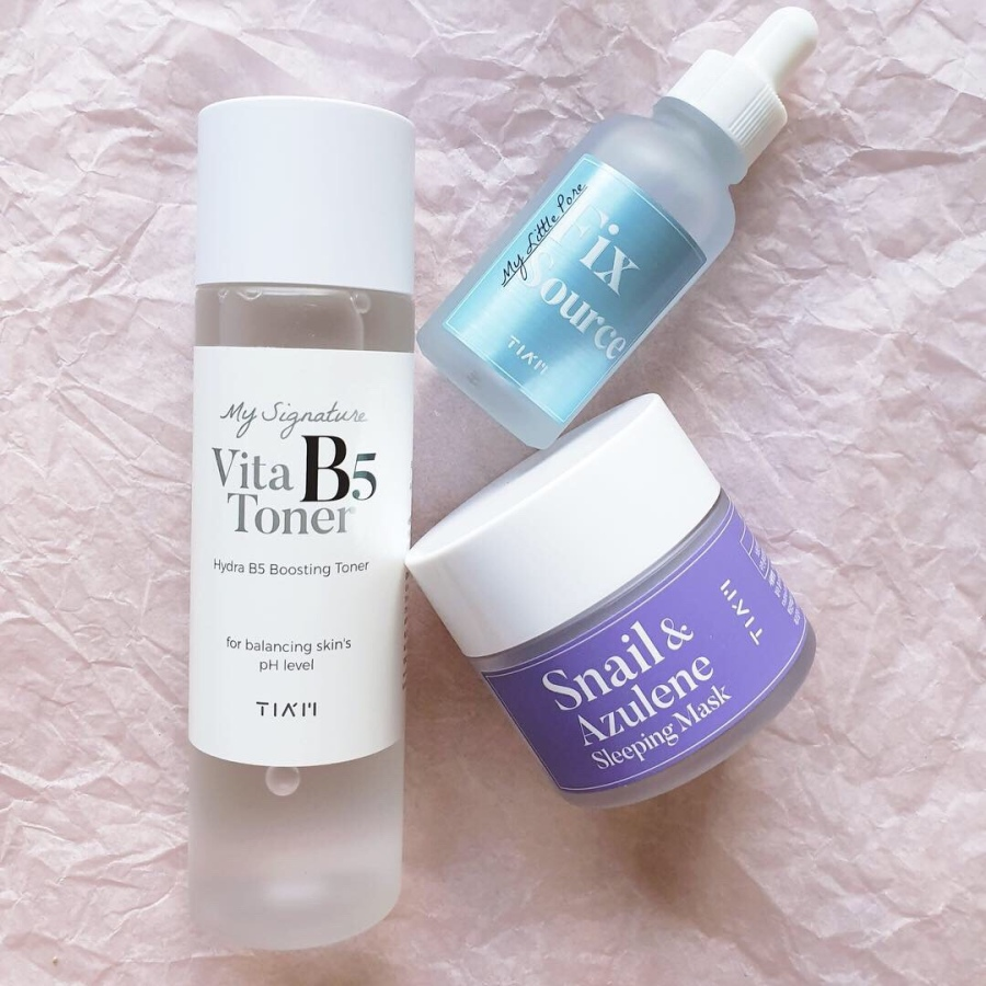 Skincare Review: Tia'm My Signature Vita B5 Toner, My Little Pore Fix Source, Snail and Azulene Sleeping Mask