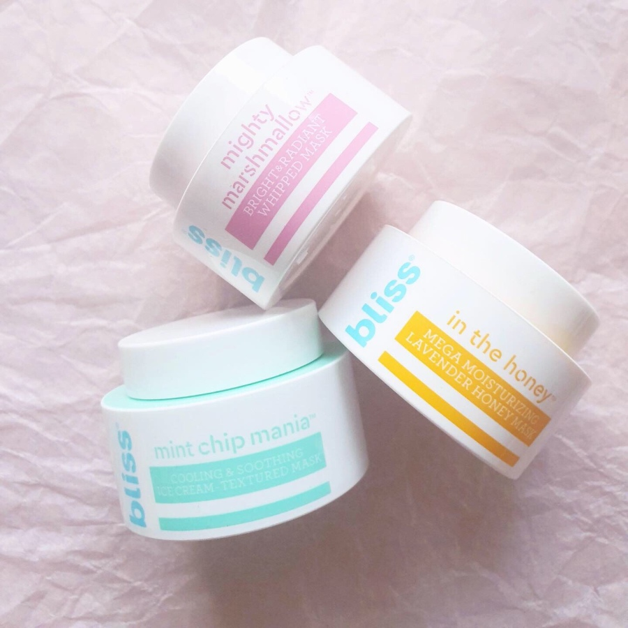 Skincare Review: Bliss Mint Chip Mania, Mighty Marshmallow, and In The Honey