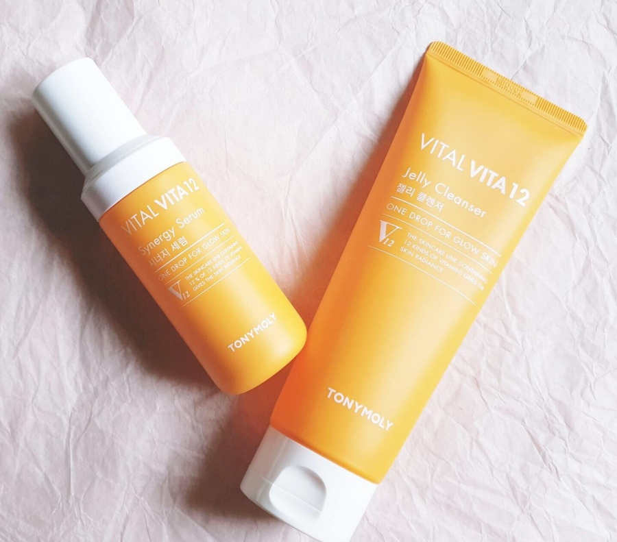 Skincare Review: Tony Moly Vital Vita 12 Jelly Cleanser and SynergySerum