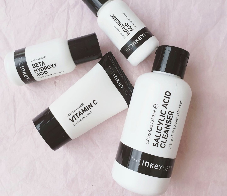 Skincare Review:  Inkey List Salicylic Acid Cleanser, Vitamin C Serum, Beta Hydroxy Acid, and Hyaluronic Acid